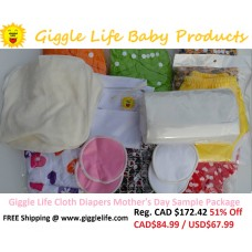 Giggle Life Mother's Day Sample Cloth Diapering Package