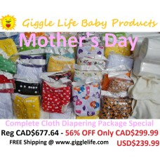 Giggle Life Mother's Day Complete Baby Cloth Diapering Package