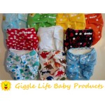 Giggle Life Baby Bamboo Cloth Diapers & Two Bamboo Inserts