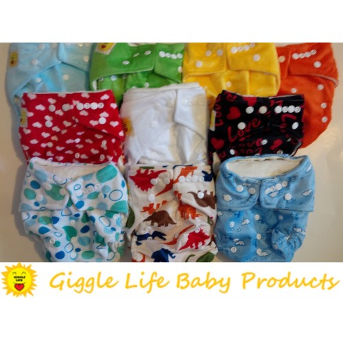Giggle Life Baby Bamboo Cloth Diaper Two Bamboo Inserts