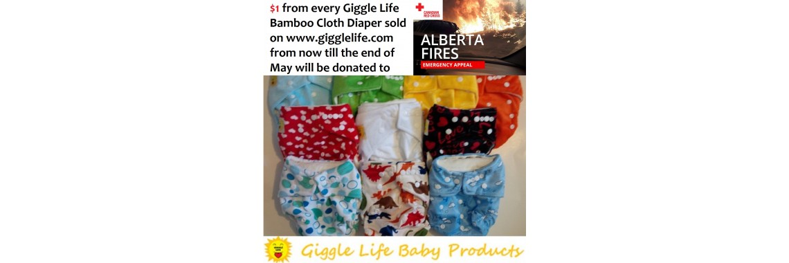 Giggle Life Cloth Diapers Fort McMurray Forest Fires