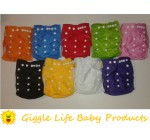 12x Giggle Life Baby Suede Cloth Diapers, 24x Microfiber Inserts & Wet Bag