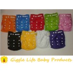 Giggle Life Baby Suede Cloth Diaper & Two Microfiber Inserts