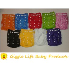 24x Giggle Life Baby Suede Cloth Diapers, 48x Microfiber Inserts & Wet Bag